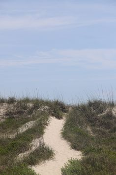 Pathway Over The Dunes by Cathy Lindsey After School Special, Bald Head Island, Arts And Crafts House, European Summer, One Summer, The Dunes, Running Away, Pathways, Shades Of Blue