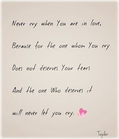 Love/ Crying Quotes