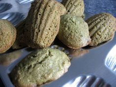 eat me, delicious: matcha coconut madeleines