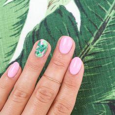 Banana Leaf Nail Art / Her Majesty's Pleasure
