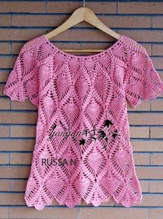 blusa rosa abacaxis