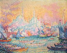 Paul Signac - Istanbul, 1907 (oil on canvas)