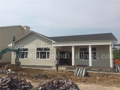 prefab #steel #construction #villa #house Steel Structure, Prefab, Second Floor, Steel Frame, Shed, Villa, Construction, Outdoor Structures, China