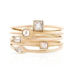 Baguette Cut Diamond Stackable Ring – SMITH + MARA