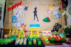 Dessert table at a Peter Pan birthday party! See more party ideas at CatchMyParty.com!