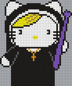 Sister Jude (from American Horror Story - Asylum) Hello Kitty (Square Grid Pattern)