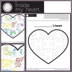 In my heart... This activity page can be used in many different ways. I use it to help children understand that they can care about and love many people, pets, memories etc. I find it especially helpful for children in the foster care and adoption system. I have had children light up when they realize they can love their mom, previous foster mom, and adoptive mom and that is OKAY!