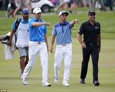 Jordan Spieth (left), Rickie Fowler (centre) and Jason Day golf's young guns.