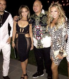 Jennifer Lopez partied with pals including French Montana, rapper Fat Joe and singer Thalia at her b... - @thalia/Instagram
