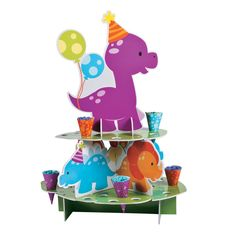 Planning a Little Dino birthday party? What's your plan for party treats? Check out this treat stand! Fill the paper cones with snacks and place in the . 1st Birthday Party Favors, Birthday Party Places, Dinosaur Birthday Party, Boy Birthday Parties, 3rd Birthday, Birthday Decorations, Dirt Bike Party, Dinosaur Cupcakes, Second Birthday Ideas