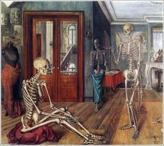 23 September 1897 – 20 July was a Belgian painter famous for his paintings of female nudes. He was influenced by the works of Giorgio de Chirico, and was also briefly associated with surrealism. Rene Magritte, Paul Delvaux, Basquiat, Skeleton Art, Paul Cezanne, Vanitas, Fantastic Art, Skull Art, Macabre