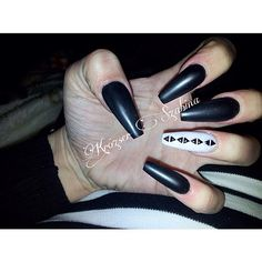 35 Most Popular and Stunning Acrylic Night Black and Matte Night Black Nails Design You May Love White Coffin Nails, Black Nails, Matte Black, Black Nail Designs, Most Popular, Hair And Nails, Nail Colors, Nail Art, Nails Design