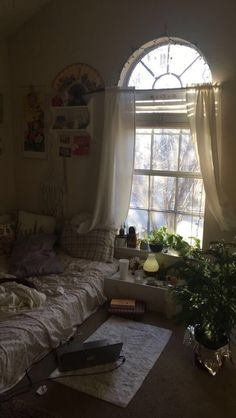 Geh runter // leiser Ton – unordentliche Betten und faule Tage ohne Arbeit – Go downstairs // low tone – messy beds and lazy days without work – …, My New Room, My Room, Dorm Room, Dream Rooms, Dream Bedroom, Aesthetic Room Decor, Pretty Room, House Rooms, Cool Rooms