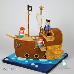 BC4160-pirate-ship-kids-birthday-cake-toronto