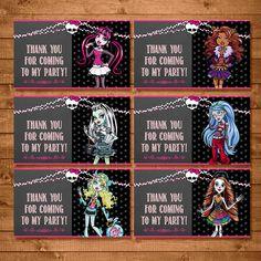 Free Monster High Goody Bag Tags Printable