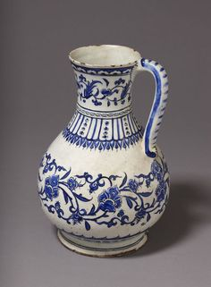 Jug      Place of origin:      Iznik, Turkey (probably, made)     Turkey (made)     Date:      ca. 1575 (made)     Artist/Maker:  ...