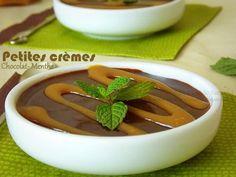 creme-dessert-chocolat-menthe3 Easy Cooking, Menthe Fraiche, Mousse, Harira, Pudding, Petites, Food, Moment, Ma Petite