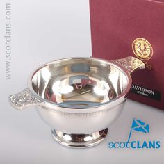 Davidson Clan Crest Quaich. Free worldwide shipping available