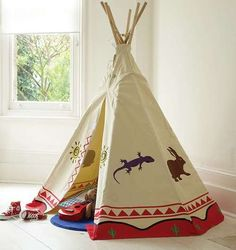 Are you interested in our wigwam play tent? With our tipi tent childs play den you need look no further. Diy Tipi, Teepee Kids, Teepee Tent, Teepees, Baby Teepee, Play Tents, Reading Tent, Deco Boheme Chic, Diy For Kids