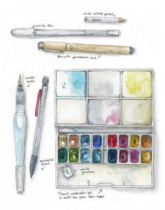 WATERCOLOR TRAVEL KIT   Sketch Kit