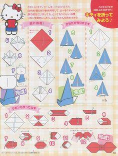 hello kitty craft | Hello Kitty Origami Tutorials | Hello Kitty Forever