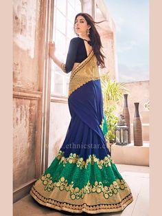 Marvelous Blue Color Saree With Designer Border  #saree #sareeswag #tradiotional #printedsaree #FeelRoyal #festive