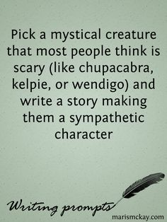 Pick a mystical creature that most people think is scary (like chupacabra, kelpie, or wendigo) and write a story making them a sympathetic character.