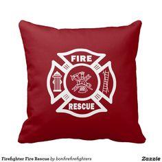 Firefighter Fire Rescue Pillow
