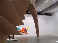 Arch of Cardboard boxes at GOMA