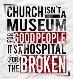 Church quotes faith broken christian