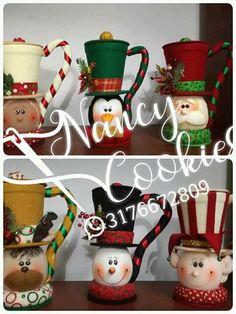 Christmas Fabric, Christmas Crafts, Xmas, Christmas Ornaments, Fabric Dolls, Fabric Decor, Ideas Para, Diy And Crafts, Holiday Decor
