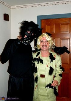 Tippi Hedren from the Birds and a Crow - Halloween Costume Contest via @costume_works