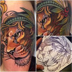 Brilliant Neo-Traditional Lion by Isis Mayan