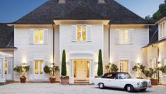 Image result for white hamptons home with mercedes benz