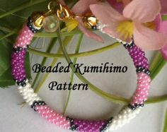 Beaded Kumihimo PDF pattern bracelet tutorial