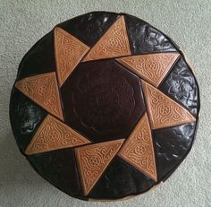 Discover more 3rd anniversary gift ideas like this Leather Moroccan Pouf in dark brown at www.yearsoflove.com