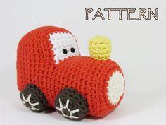 Crochet pattern train engine amigurumi stuffed toy tutorial English and Dutch…