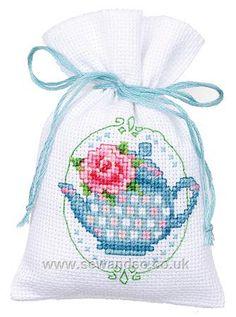 Floral Tea Pot Potpourri Bag