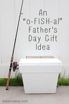 "An ""o-FISH-al"" Father's Day Gift Idea + a free printable! - delia creates"