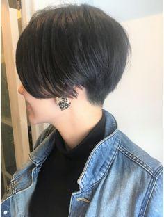 コーエン(coaen) 黒髪☆刈り上げ前下がりショート