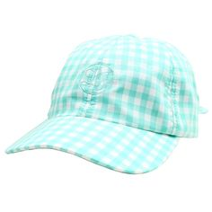 Checked Bow Hat in Mint Gingham by Lauren James  - 1