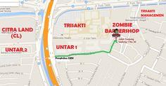 Zombie Barbershop Jakarta Jl. Tanjung Gedong no.30 (look at the map bellow) Lokasi persis dibelakang kampus UNTAR 1 JAKARTA BARAT