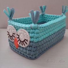 Super gifts for mom diy bag tutorials ideas Crochet Owls, Crochet Purses, Crochet Home, Love Crochet, Crochet Gifts, Crochet Yarn, Crochet Basket Pattern, Knit Basket, Rope Basket