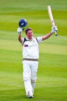 Gary Ballance saluting his century at Lord's