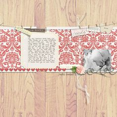 "Digital Scrapbook page created by brendasmith featuring ""I'll Love You Forever"" by Sahlin Studio"