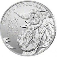 Canadian silver coin snake