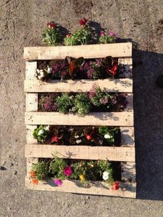 Pallet planter, except painted white