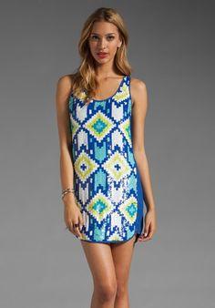 Trina turk storm maxi dress