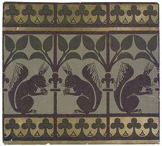 Squirrel and Leaves wallpaper frieze, William Burg. Squirrel and Leaves wallpaper frieze, William Burges – Victoria and Albert Museum Of Wallpaper, Designer Wallpaper, Leaves Wallpaper, Wallpaper Designs, Art Nouveau, Wallpaper Manufacturers, Thanksgiving Wallpaper, Textiles, Art Deco