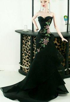 Aphrodite Black Fashion Royalty Silkstone Barbie Model Gown Bride Wedding Dress   eBay
